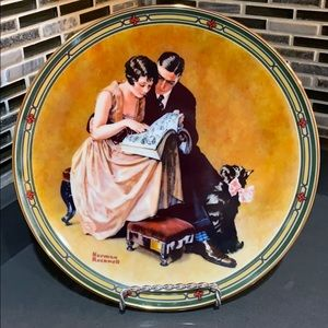 "Norman Rockwell ""A Couple's Commitment"" Plate"